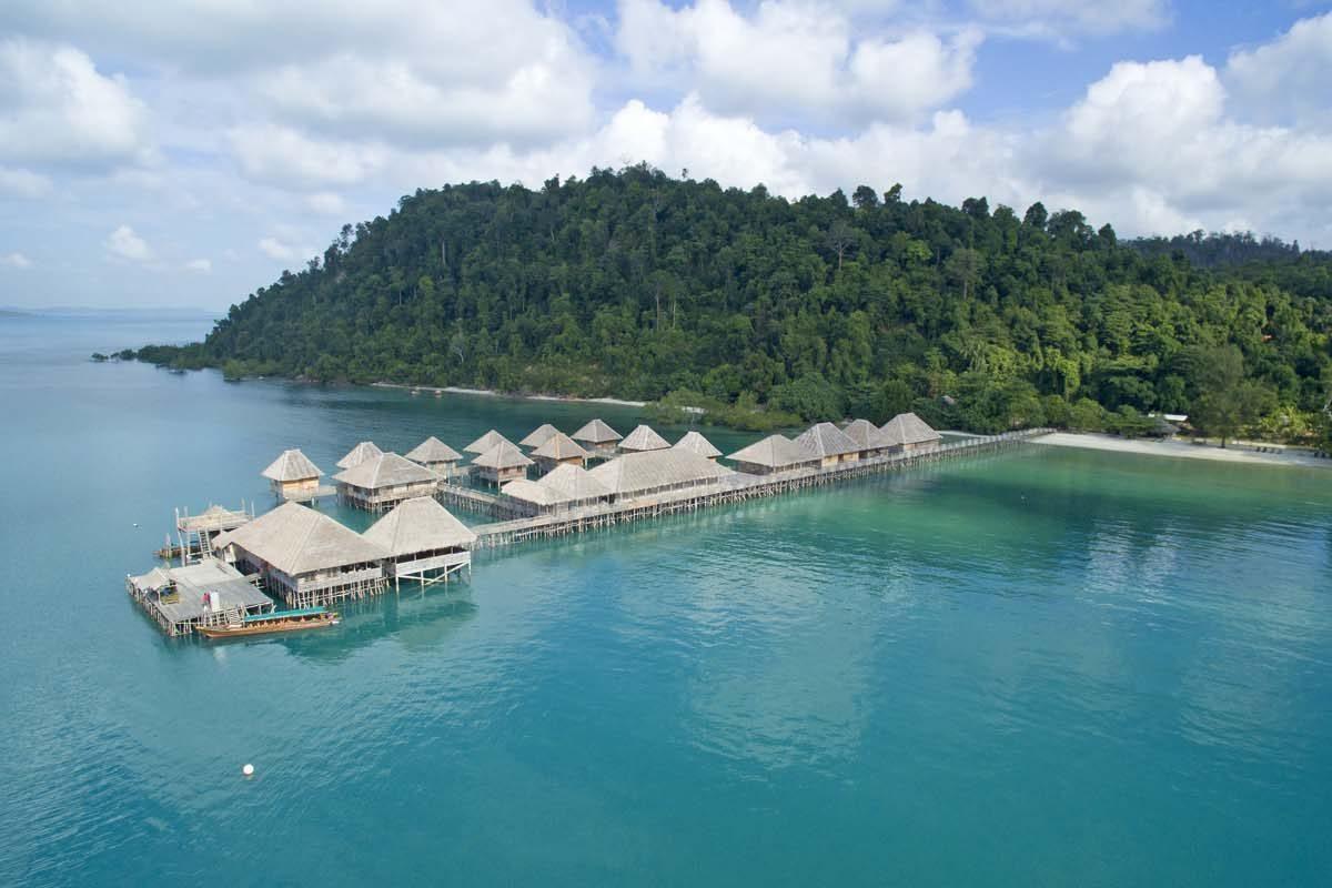 Aerial View of Telunas Beach Resort