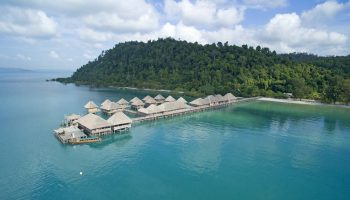 Aerial View of Telunas Beach Resort