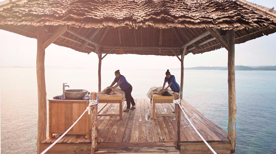 Overwater massages
