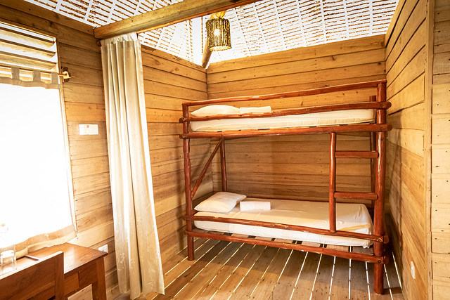 Overwater Bungalow with balcony interior 1