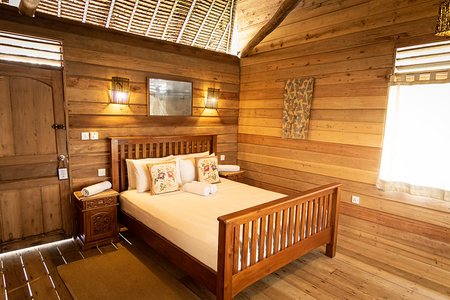 Overwater Bungalow with balcony interior 2