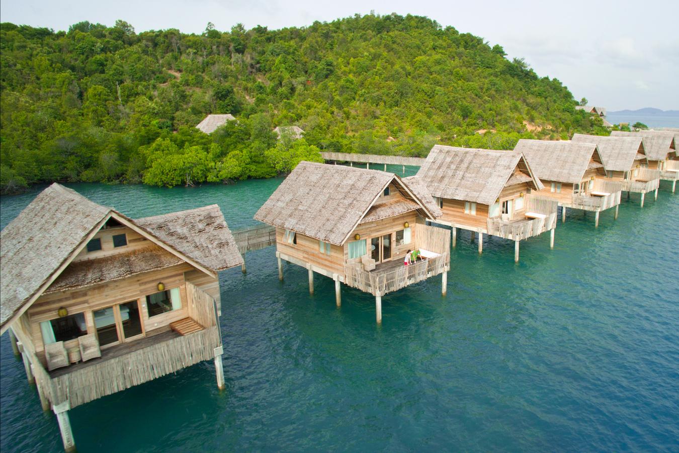 Telunas Private Island - Aerial