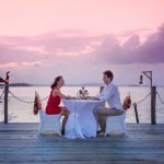 Couple Dining on Deck